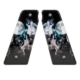 Howling Wolves Paintball Grips