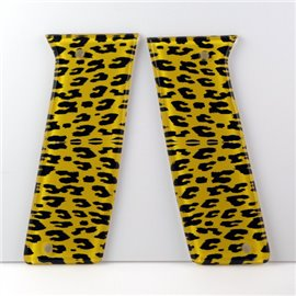 Yellow Leopard Print Paintball Grips