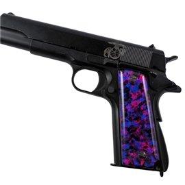 Purple Camouflage SPD Custom Acrylic Pistol Grips