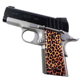Cheetah Print 1911 Compact Gun