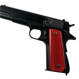 Carbon Fiber Red SPD Custom Acrylic Pistol Grips