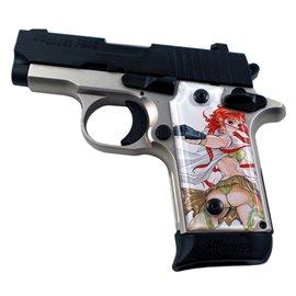Femme Fatale 2 White SPD Custom Acrylic Pistol Grips