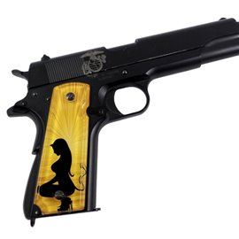 Angel & Devil Gold SPD Custom Acrylic Pistol Grips