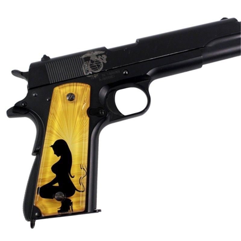 Angel and Devil Gold SPD Custom 1911 Acrylic Panel Pistol