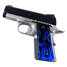 Flames Blue SPD Custom Acrylic Pistol Grips