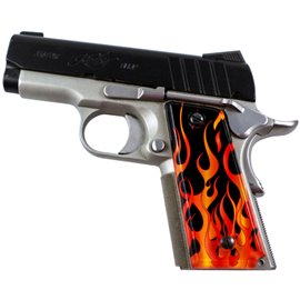 Flames Red SPD Custom Acrylic Pistol Grips