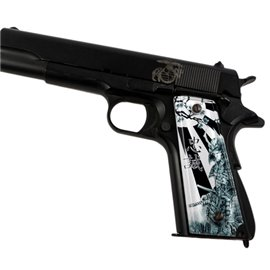Samurai Loyalty Black SPD Custom Acrylic Pistol Grips