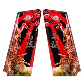 Samurai Loyalty Red SPD Custom Acrylic Pistol Grips