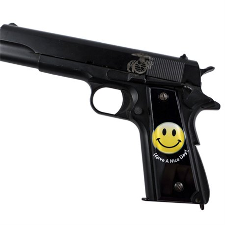 Nice Day Smiley SPD Custom Acrylic Pistol Grips