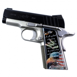 2nd Amendment Black SPD Custom Acrylic Pistol Grips