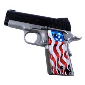 American Flag 2 SPD Custom Acrylic Pistol Grips