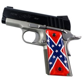 Rebel Flag SPD Custom Acrylic Pistol Grips
