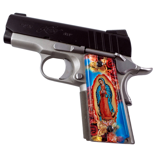 Virgin Mary SPD Custom 1911 Acrylic Panel Pistol Gun Grips