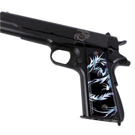 Dragon Tattoo Grey SPD Custom Acrylic Pistol Grips
