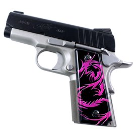 Dragon Tattoo Pink SPD Custom Acrylic Pistol Grips
