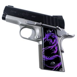 Dragon Tattoo Purple SPD Custom Acrylic Pistol Grips