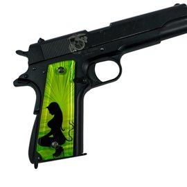 Angel & Devil Green SPD Custom Acrylic Pistol Grips