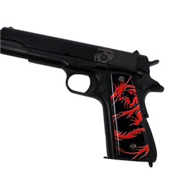 Dragon Tattoo Red SPD Custom Acrylic Pistol Grips