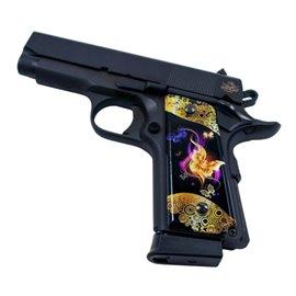 Gold Butterflies SPD Custom Acrylic Pistol Grips